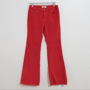 WE THE FREE RED CORDUROY FLARE JEANS